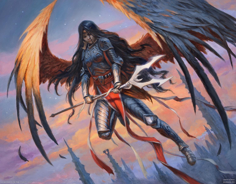 Liesa, Forgotten Archangel Art by Dmitry Burmak