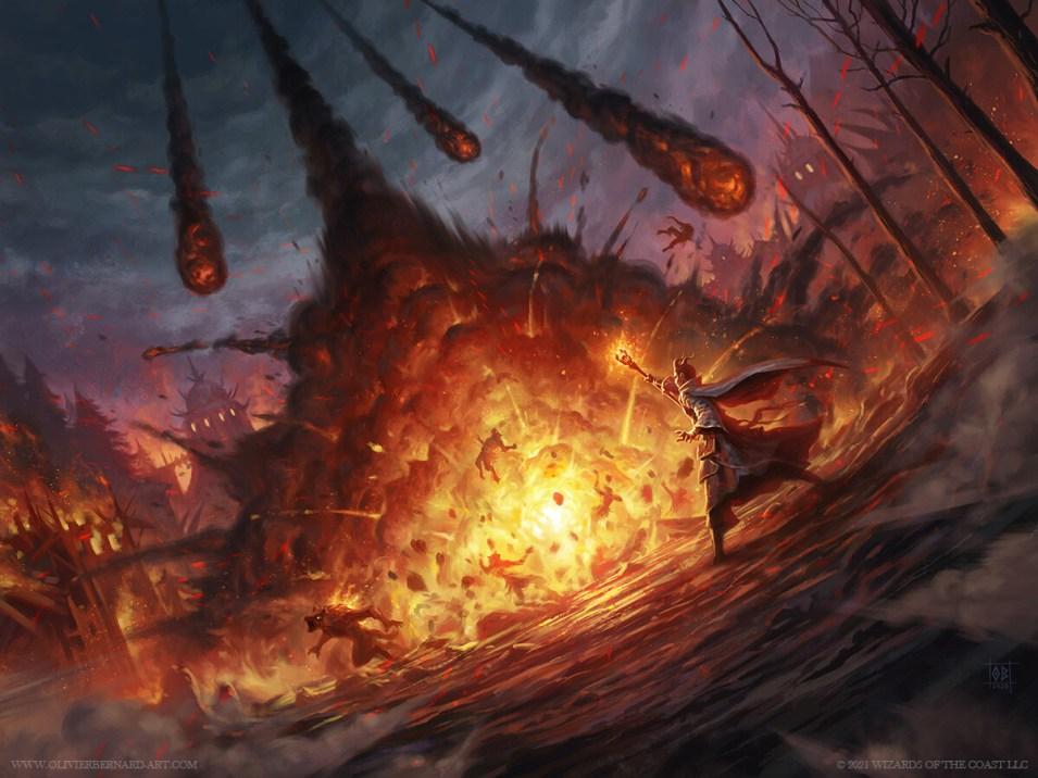 Meteor Swarm Art by Olivier Bernard