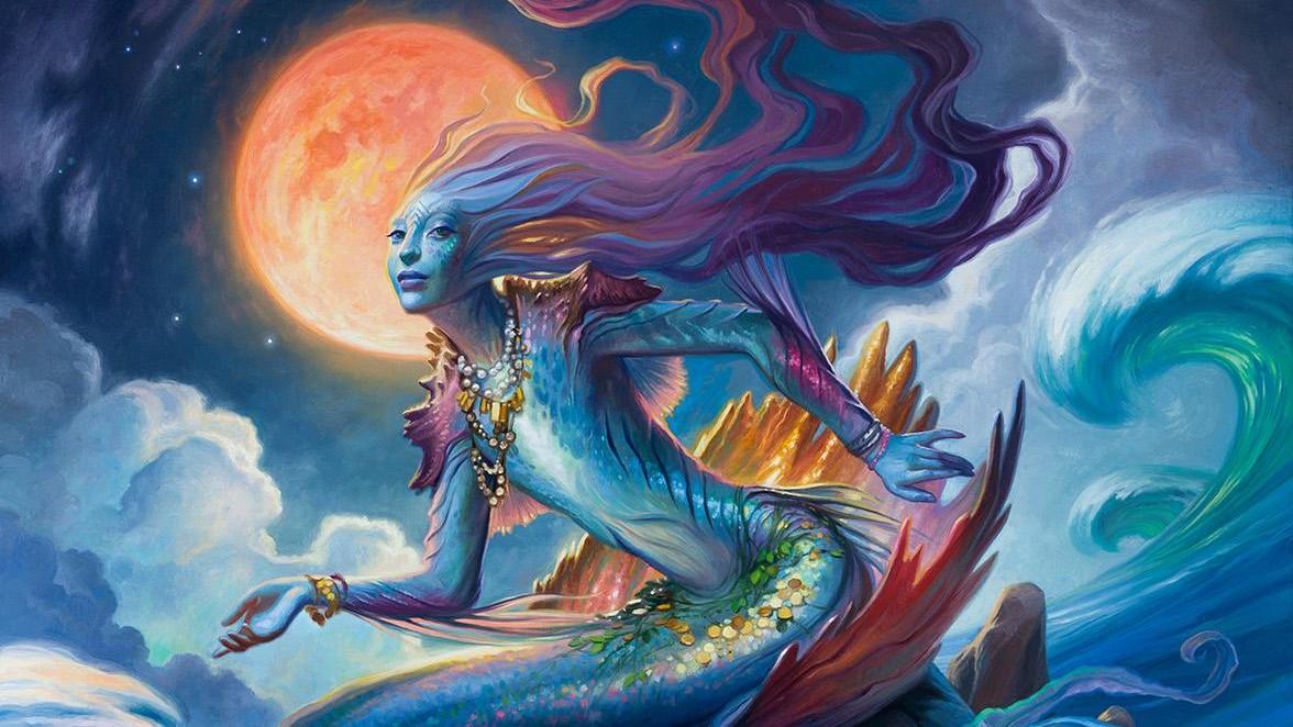 Svyelun God of Sea and Sky Art by Howard Lyon