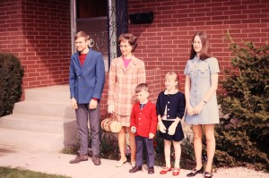 My family, Easter 1973 (or maybe '72)
