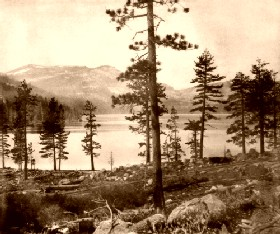 Donner Lake in 1866, courtesy of the LIbrary of Congress