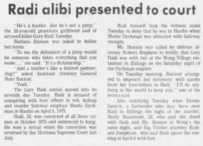 Newspaper cover of Radi case