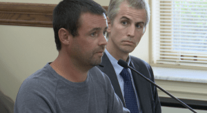 Cody Marble testifying in favor of exoneree compensation in Montana