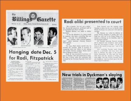 Newspaper covers from Radi case