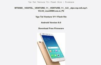 Vgo Tel Venture V11 Mt6580 Firmware Flash File 100% Tested