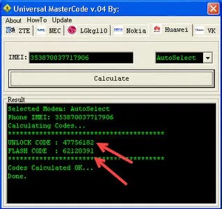 universal master code software
