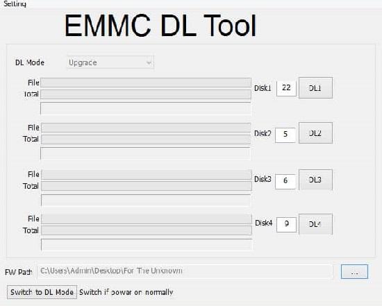 Download EMMC DL Tool latest version