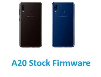 Samsung Galaxy A20 SM-A205F Stock Firmware download