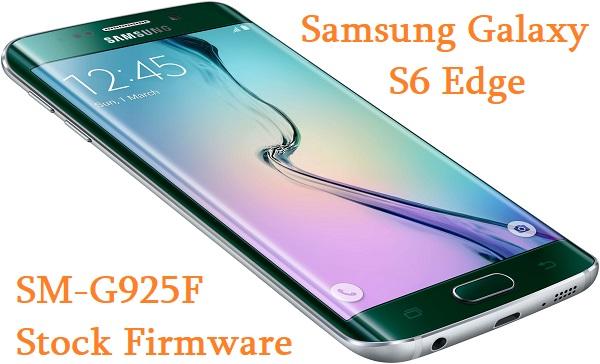 Samsung Galaxy S6 Edge SM-G925F Stock Firmware Download