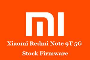 Xiaomi Redmi Note 9T 5G Stock Firmware