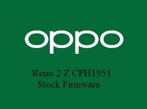 Oppo Reno 2 Z CPH1951 Stock Firmware Download