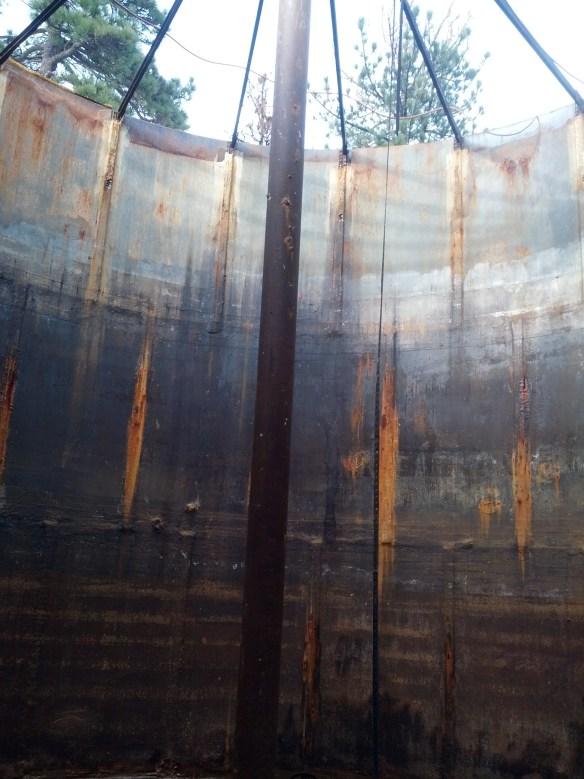 Inside old LH water tank
