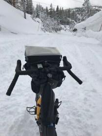 Bag in snow