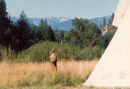 Yoga at the Tipi, North Cascades, Leavenworth, WA
