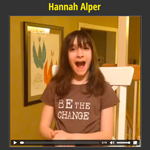 Hanna Halper social media post for Action 2015 campaign