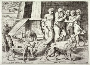 Noah Leaving the Ark, by Sisto Badalocchio