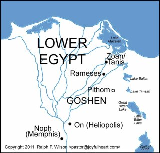 Goshen and the new cities of Ramses and Pitom