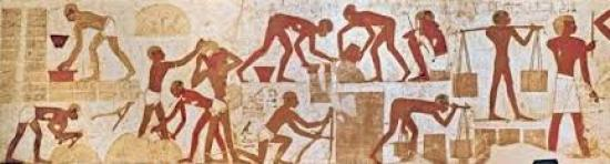 Brick making Tomb of King Rekhmire in Thebes