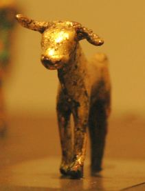 Gold calf, Temple of Baalat in Byblos