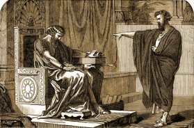 Jeremiah speaks to King Zedekiah, 1897 illustration