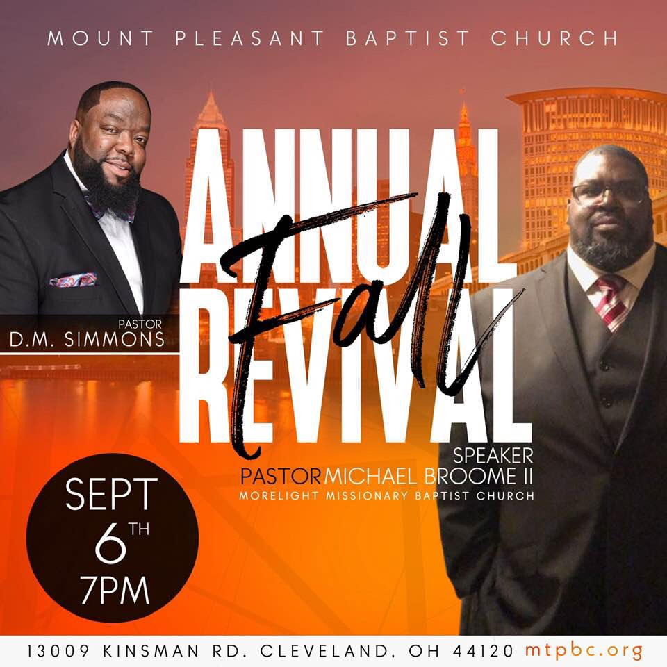Mt Pleasant Baptist Church Annual Revival