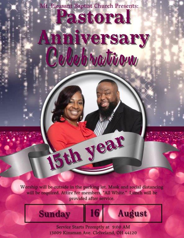 Pastor D.M. and First Lady Simmons 15 year anniversary