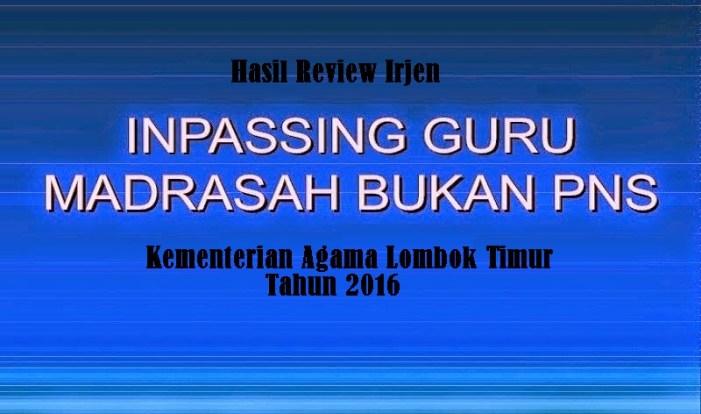 Data Infassing GBPNS Hasil Review Irjen Untuk GBPNS Kab. Lombok Timur
