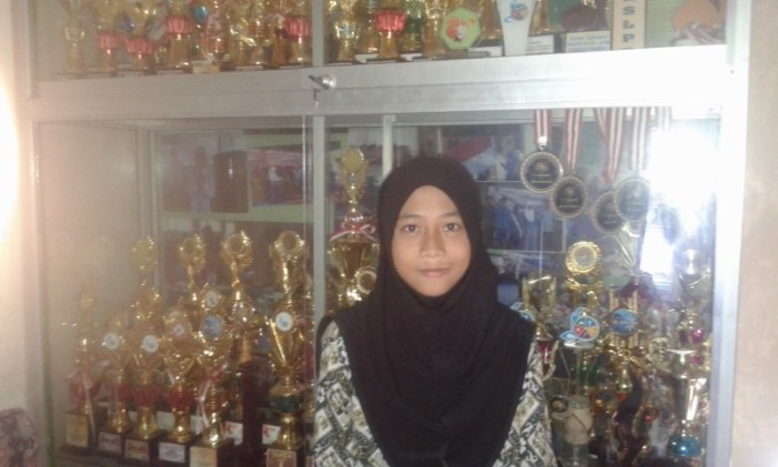 Evi Apriani Pimpin OSIS Tsabiwa Periode Tahun 2016/2017