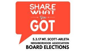 MSANA board elections poster