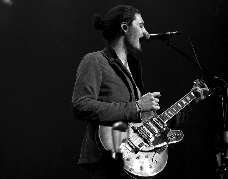 Hozier performs at the Ryman Auditorium in Nashville, Tenn. on Monday, March 16, 2015. The concert was the second of three sold out shows at the Ryman this week. (MTSU Sidelines/Brett Turner)
