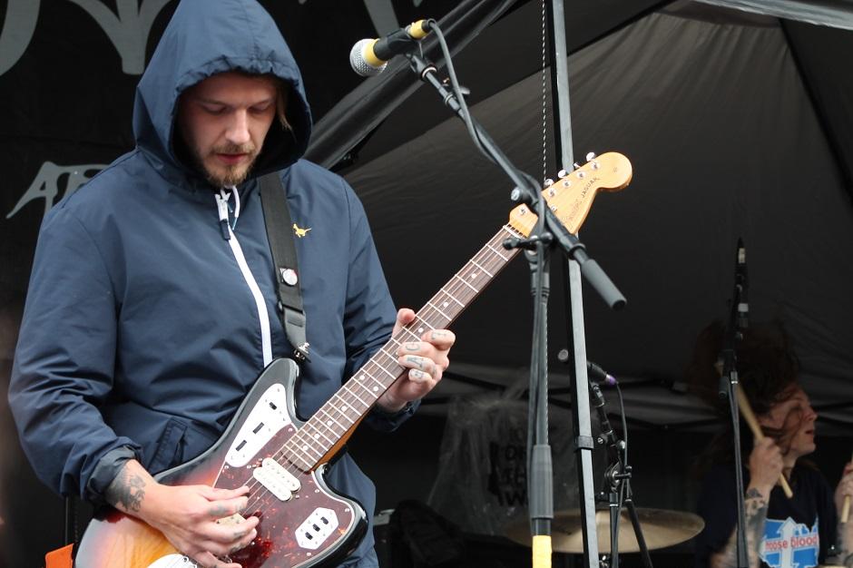 Mark Osbourne of Moose Blood performs during the Nashville, Tennessee stop of the Vans Warped Tour on July, 1, 2015. (MTSU Sidelines / Savanna Hazlewood)
