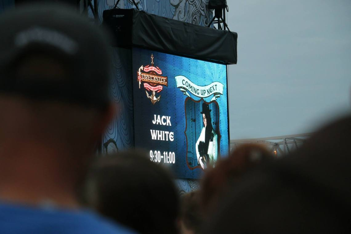 Fans wait for Jack White's performance at the Forecastle Festival in Louisville, Kentucky on Saturday, July 19, 2015. (MTSU Sidelines / Dylan Aycock)