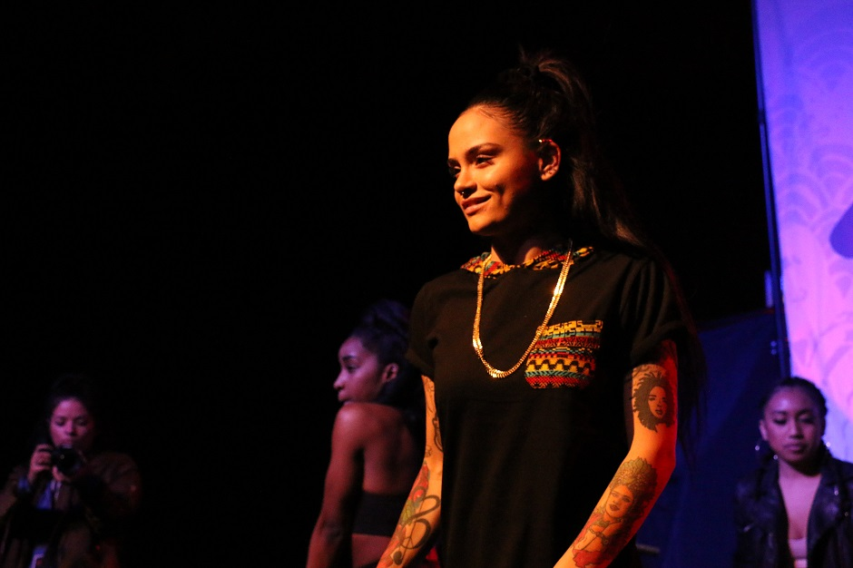 R&B artist Kehlani performs at Marathon Music Works in Nashville, Tenn. on Saturday, January 24, 2015. She was one of three opening acts for hip-hop artist G-Eazy. (John Connor Coulston / MTSU Sidelines)