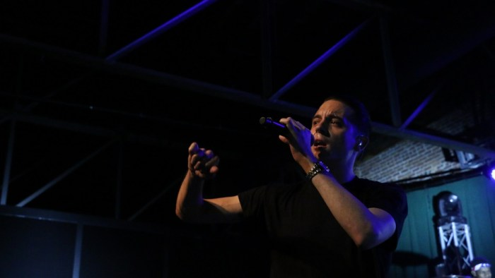 Hip-hop artist G-Eazy performs at Marathon Music Works in Nashville, Tenn. on Saturday, January 24, 2015. He will return to Middle Tennessee in June to play the 2015 Bonnaroo Music and Arts Festival. (John Connor Coulston / MTSU Sidelines)