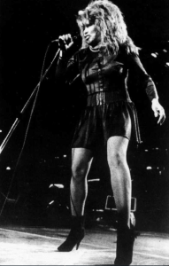 Tina Turner performs at Murphy Center in Murfreesboro, Tenn. on Thursday, Oct. 29, 1987. (Jack Ross/MTSU Photo Services)