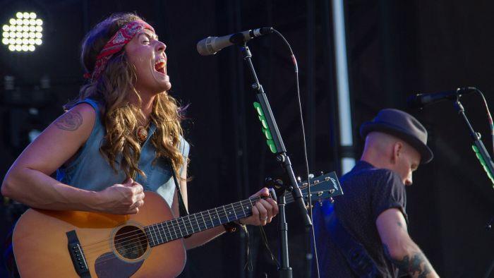 Brandi Carlile performs at the Bonnaroo Music and Arts Festival in Manchester, Tenn. on Sunday, June 14, 2015. (MTSU Seigenthaler News Service / Matt Masters)
