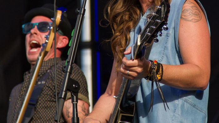 Brandi Carlile performs at the Bonnaroo Music and Arts Festival in Manchester, Tenn. on Sunday, June 14, 2015. (MTSU Seigenthaler News Service / Matt Masters)