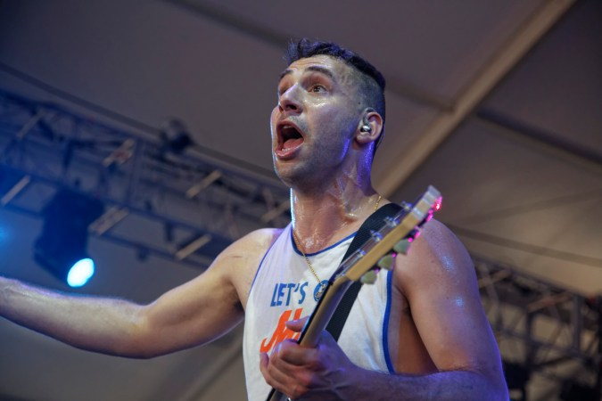 Jack Antonoff of Bleachers performs at the Bonnaroo Music and Arts Festival in Manchester, Tenn. on Saturday, June 13, 2015. (MTSU Seigenthaler News Service / Gregory French)