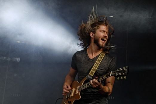 Trevor Terndrup of Moon Taxi performs at the Bonnaroo Music and Arts Festival in Manchester, Tenn. on Friday,  June 12, 2015.  (MTSU Seigenthaler News Service / Gregory French)