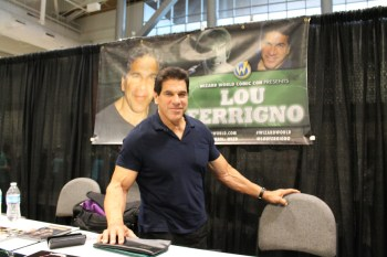 The Incredible Hulk Star Lou Ferrigno, 63, at his meet-and-greet booth at Nashville's Wizard World Comic Con on Sept. 25, 2015. (MTSU Sidelines/ Jamie A. Cooley).