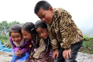 Sherpa children in festival clothing. (MTSU Sidelines/ Elizabeth Enck)