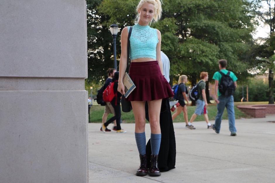 Jordan Hyden discusses her style on MTSU's campus in Murfreesboro, Tenn. on Tuesday, October 4, 2016. (MTSU Sidelines/ Aliyah Lyons)