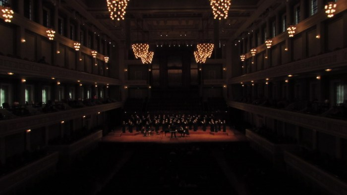 Nashville Symphony Chorus warming up at the Schermerhorn Symphony Center in Nashville, Tenn. on Saturday, Oct. 22.
