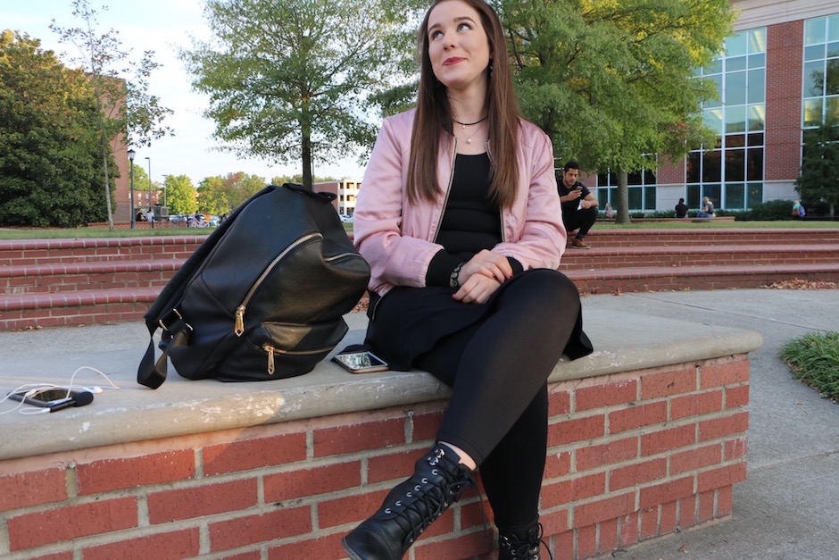 Rachel Blackwell shows off her style on MTSU's campus in Murfreesboro, Tenn. on Tuesday, October 4, 2016. (MTSU Sidelines/ Aliyah Lyons)
