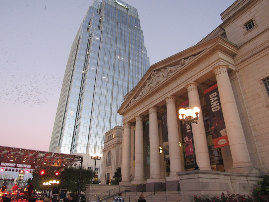 The end draws near for the Free Day of Music at the Schermerhorn Symphony Center in Nashville, Tenn. on Saturday, Oct. 22.