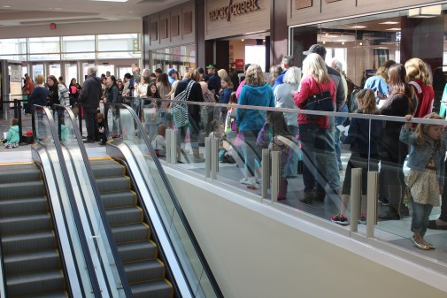 Parents wait with eager children long before the store opens. (Sidelines / Tayhlor Stephenson)