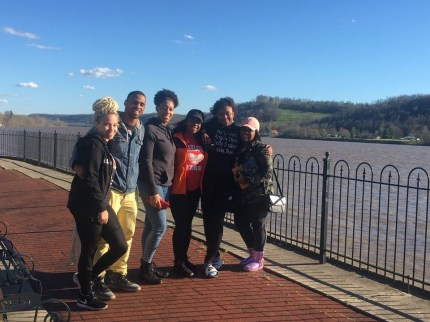Students from MTSU's African-American Studies Department traveled to Ohio to visit national landmarks in African-American history. (Photo courtesy of Jarron Parker)