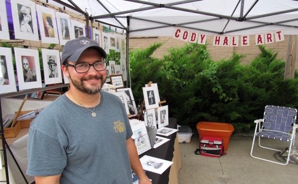 Local artist Cody Hale stops for a picture at the Mayday Brewery Folk 'N Art Festival in Murfreesboro, Tenn. on July 15, 2017. (Steve Barnum / MTSU Sidelines)