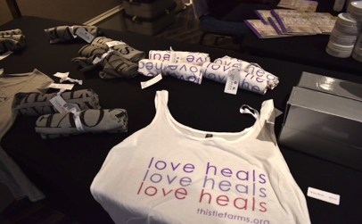 "Love Heals Everybody shirts are available for purchase at ""A Touch of Paris Fashion Show"" in Franklin, Tenn. on July 29, 2017. (Genesis Rodriguez/ MTSU Sidelines)"