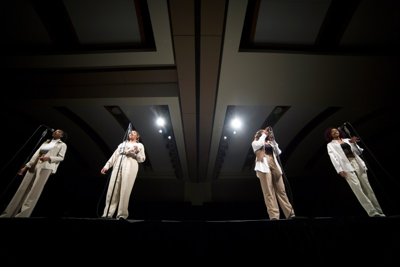 Tonight By Xscape perform at the Color the Runway Fashion Show in Murfreesboro, Tenn. on Thursday, Feb. 8, 2018. (BingNan Li / MTSU Sidelines)